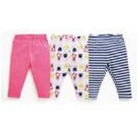 Baby Girls Pack of 3 Flower and Stripe Leggings