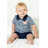 Baby Boys all in one Polo Shirt Romper