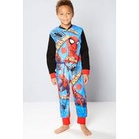 Boys Spiderman Fleece Onesie Multi