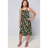 Girls Summer Print Pineapple Midi Dress