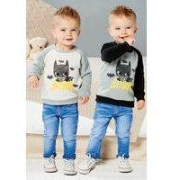 Baby Boys Pack of 2 Batman Sweaters