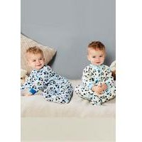 Baby Boys Pack of 2 Mickey Mouse Sleepsuits