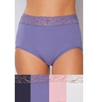 Pack of 4 Lace Top Maxi Briefs