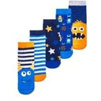 Boys Pack of 5 Monster Socks