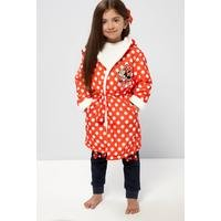 Girls Minnie Mouse Polka Dot Robe