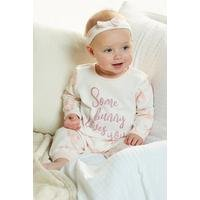 Baby Girls 2-Piece Twosie and Headband Set