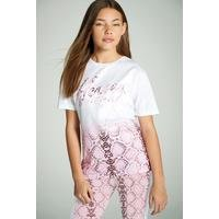 Beck and Hersey Snakeskin T-Shirt