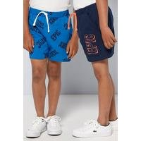 Younger Boys Pack of 2 Epic Slogan Shorts
