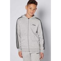 Boys adidas Essentials 3S Zip Through Hoody