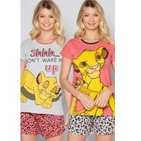 Pack of 2 Disney The Lion King Shortie Pyjamas