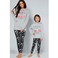 Girls Slogan Hoody and Legging Set