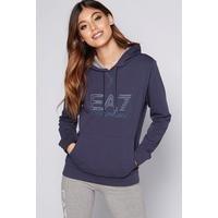 EA7 Blue Logo Hoody