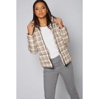 Padded Check Short Coat