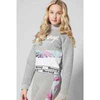 Girls Beck and Hersey Alice Funnel Neck Cropped Sweat