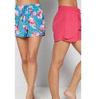 Pack of 2 Floral Frenzy Beach Shorts