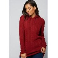 Hooded Cable Jumper