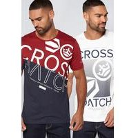 Crosshatch 2 Pack Logo T-Shirts