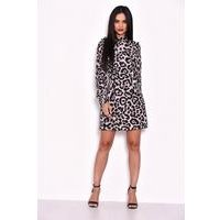AX Paris Leopard Print High Neck Dress