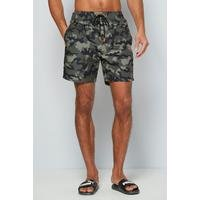 Mens Camo And Side Tape Swim Shorts