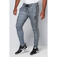 DFND Tailored Check Grey Joggers