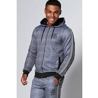 DFND Tailored Check Grey Hoody