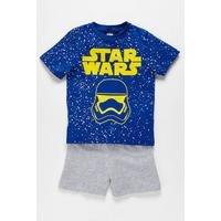 Boys Star Wars Shortie Pyjamas