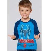Boys Spiderman Super Hero Long Sleeved Top