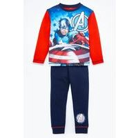 Boys Captain America Red/Navy Pyjamas