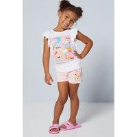 Younger Girls 2 Piece Peppa Pig Photobooth T-Shirt and Short Set