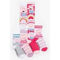 Girls Peppa Pig Pack of 6 Socks
