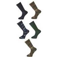 Twisted Gorilla Pack Of 5 Camo Socks