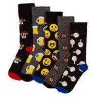 Emoji Pack Of 5 Socks