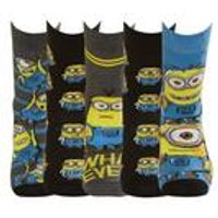 Minions Pack of 5 Socks