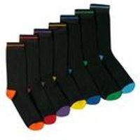 TG Pack Of 7 Heel and Toe Socks