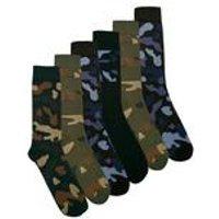 Pack of 7 Camo Socks