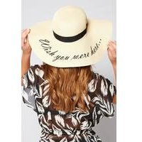 Wish You Were Here Embroidered Straw Hat