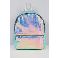 Metallic Quilted Backpack