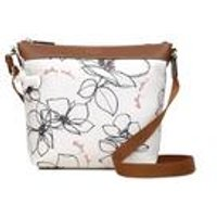 Radley Medium Zip Top Linear Flower Crossbody Bag