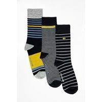 Ben Sherman Pack of 3 Fashion Stripe Socks