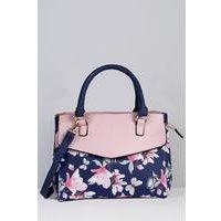 Floral Butterfly Grab Handbag