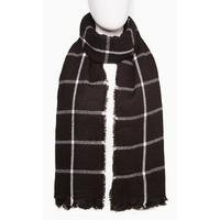 Black Check Blanket Scarf