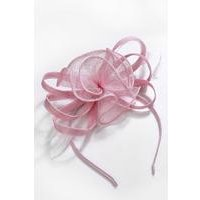 Baby Pink Feather Fascinator