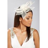 Cream Lace and Feather Fascinator