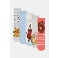 Pack of 5 Lion King Character Socks