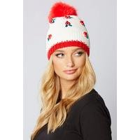 Christmas Embellished Beanie Hat