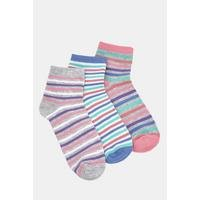 Pack of 3 Striped Trainer Socks