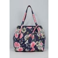 Floral Shopper Handbag with Matching Purse