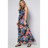 Sunshine Tropic Floaty Halter Maxi Beach Dress