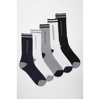 Crosshatch 5 Pack Sport Socks