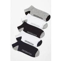 Crosshatch 5 Pack Trainer Socks